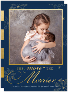 More The Merrier Christmas Christmas Birth Announcement