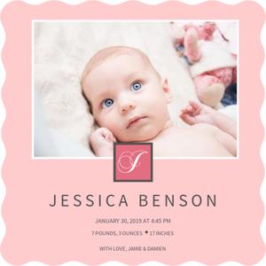 custom magnet birth announcements