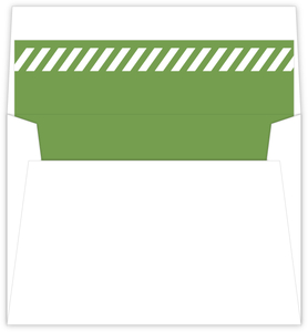 Flowers And Stripes Holiday Envelope Liner