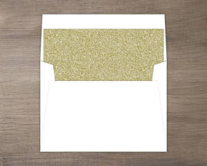 Chalkboard And Gold Glitter Envelope Liner