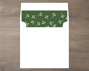 Heart And Holly Envelope Liner