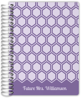Lavender Hexagon Pattern Wedding Planner
