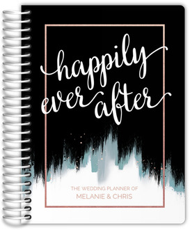 Midnight Brushstroke Wedding Planner