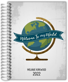 Welcome To My World Travel Journal