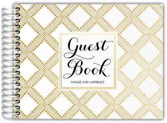Art Deco Pattern Wedding Guest Book
