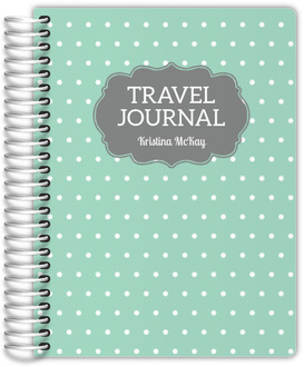 Vintage Polka Dot Travel Journal
