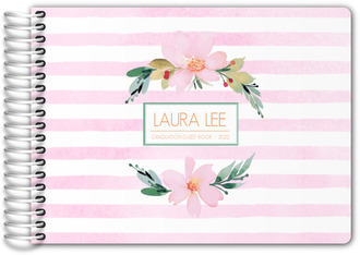 Floral Watercolor Graduation Guest Book