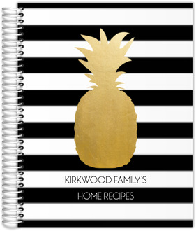 Modern Golden Pineapple Recipe Journal