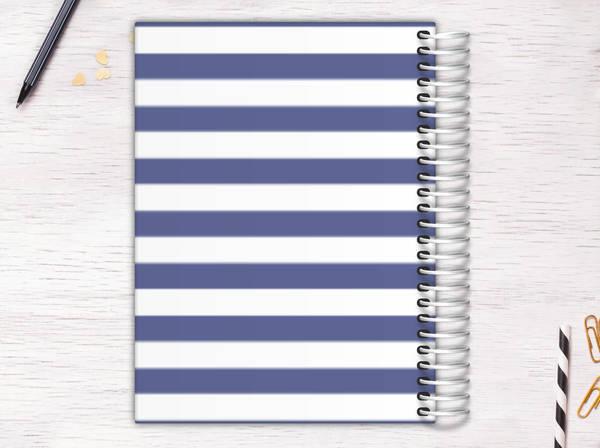 Modern Stripes Monogram Recipe Journal