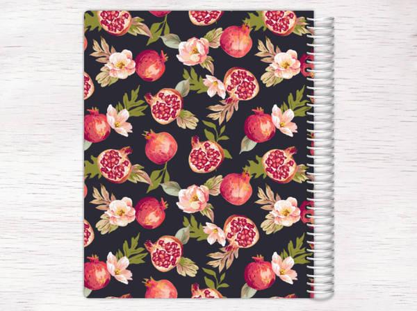 Pomegranate Florals Recipe Journal