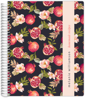 Pomegranate Florals Recipe Journal