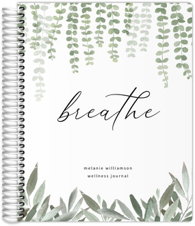 Beautiful Modern Blue and Yellow Floral Wedding Journal
