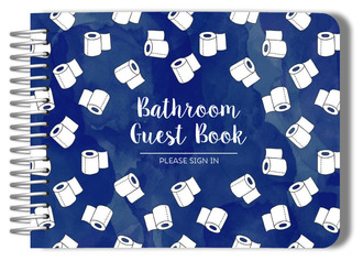 Toilet Paper Pattern Bathroom Guest Book