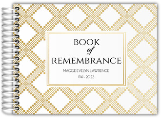 Art Deco Pattern Funeral Guest Book