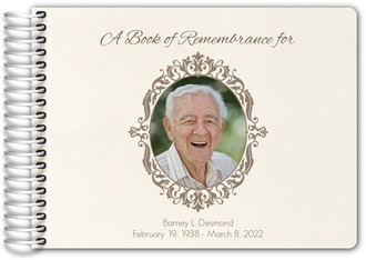 Book Of Remembrance Funeral Guest Book