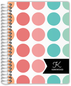Color Burst Polka Dot Address Book
