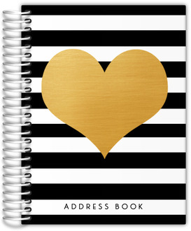 Modern Love Faux Foil Heart Address Book