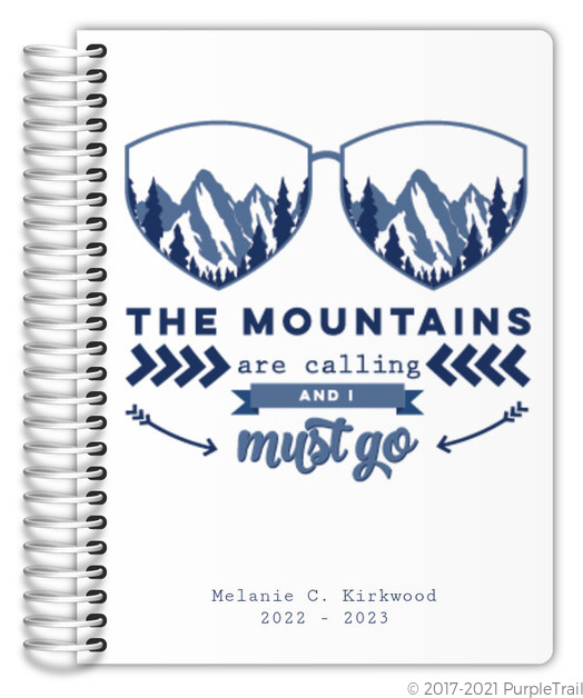 Mountains Are Calling Custom Daily Planner Daily Planners - Custom daily planner