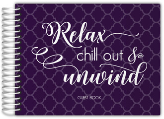Relax & Unwind Bathroom Guest Book