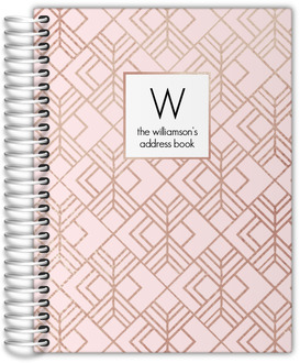 Blush Faux Rose Gold Address Book