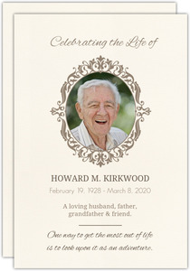 Book of Remembrance Memoral Card