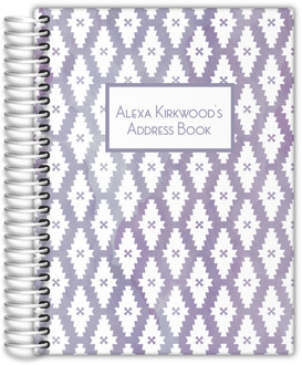 Purple Watercolor Pattern Address Book
