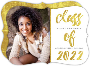 Glamorous Foil Graduation Announcement Card