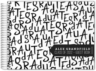 Sketched Letters Graduation Guest Book