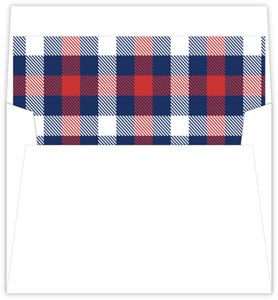 Country Plaid Envelope Liner