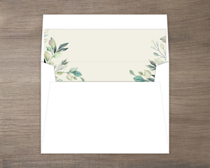 Diamond Greenery Frame Envelope Liner