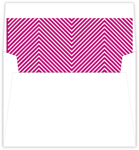 White and Pink Diagonal Stripes Pattern Envelope Liner