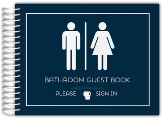 Boy Girl Icon Bathroom Guest Book