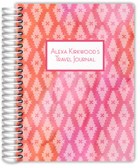 Pink and Orange Watercolor Pattern Travel Journal