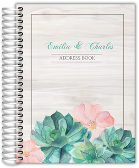Whimsical Watercolor Succulents Address Book