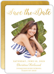 Faux Gold Photo Cut Out Graduation Save The Date