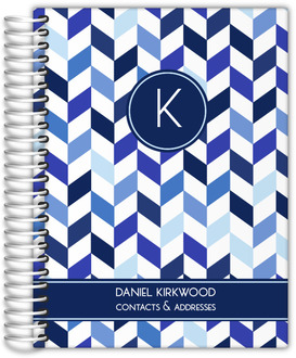 Shades of Blue Chevron Address Book