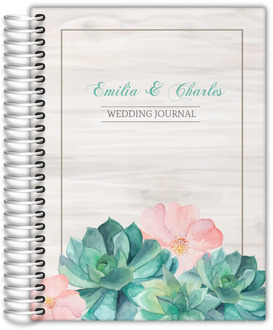 Whimsical Watercolor Succulents Wedding Journal
