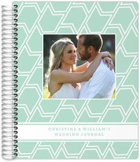 Mint Banner Pattern Wedding Journal