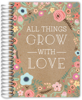 All Things Grow With Love Wedding Journal