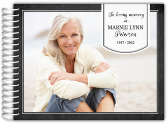 Simple Banner Funeral Guest Book