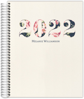 Pink and Navy Floral Mom Planner