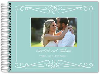 Something Blue Wedding Guest Book