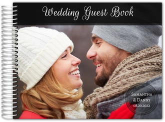 Landscape Photo Wedding Guest Book