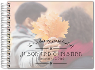 Simple Typography Wedding Guest Book