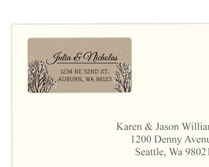 Rustic Krafty Winter Custom Address Label