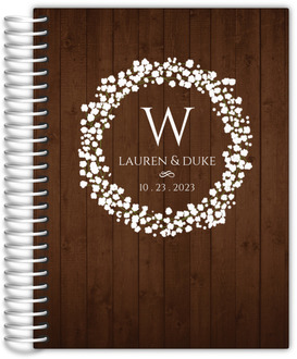 Rustic Baby Breath Wreath Wedding Journal