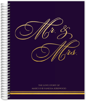 Royal Purple & Gold Wedding Journal