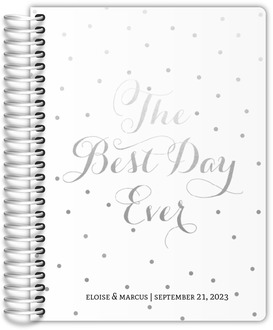 Faux Silver Foil Best Day Ever Wedding Journal