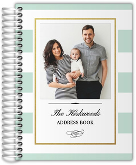 Classic Mint and Gold Frame Address Book