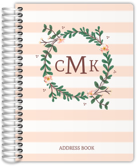 Floral Monogram Address Book
